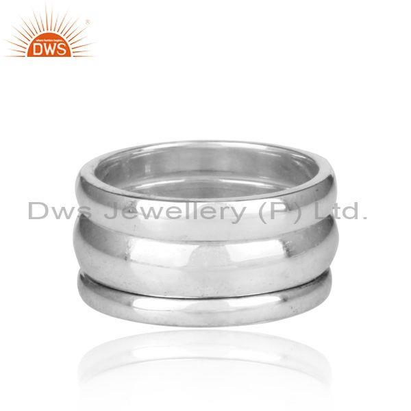 Fine Sterling Silver Handmade Multi Band Type Bold Ring