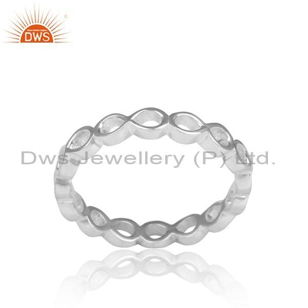 Fine 925 Sterling Silver Handmade Twisted Statement Ring