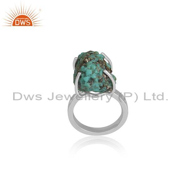 Arizona Turquoise Set Fine 925 Silver Classic Statement Ring