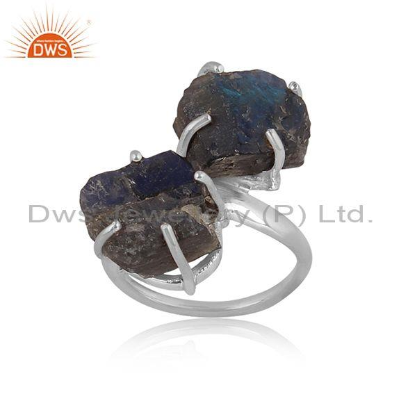 Labradorite Set Fine Sterling Silver Classic Textured Ring
