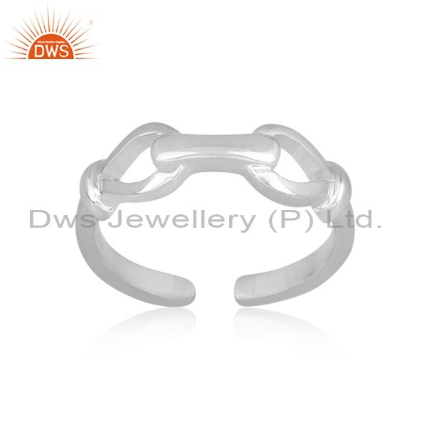 Handmade Fine 925 Sterling Silver Classic Knot Pattern Ring