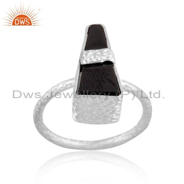 Hematite Set Fine 925 Sterling Silver Handmade Abstract Ring