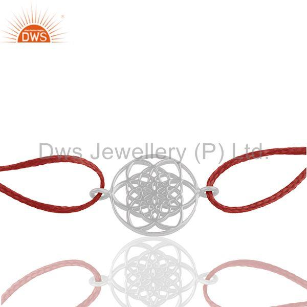 925 sterling silver chakra design adjustable bracelet manufacturers