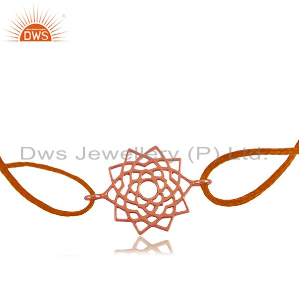 Rose Gold Plated 925 Silver Designer Adjustable Bracelet Manufacturers