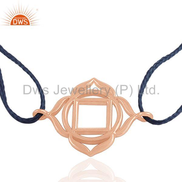 18k rose gold plated 925 silver charm jewelry bracelet manufacturer