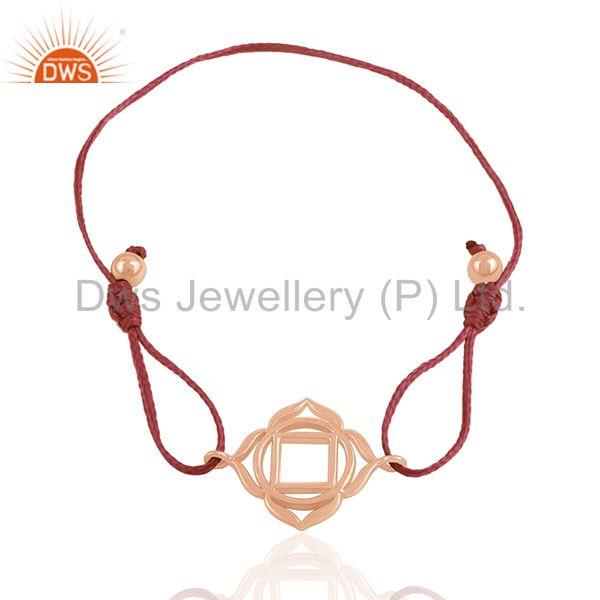 925 Silver 18k Rose Gold Plated Charm Bracelet Manufacturer from India
