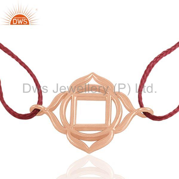 Adjustable Red Thread 925 Sterling Silver Charm Bracelet Wholesale