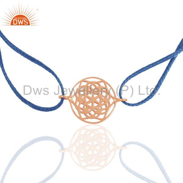 Indian Jewelry Manufacturer of Rose Gold Plated Silver Charm Bracelet