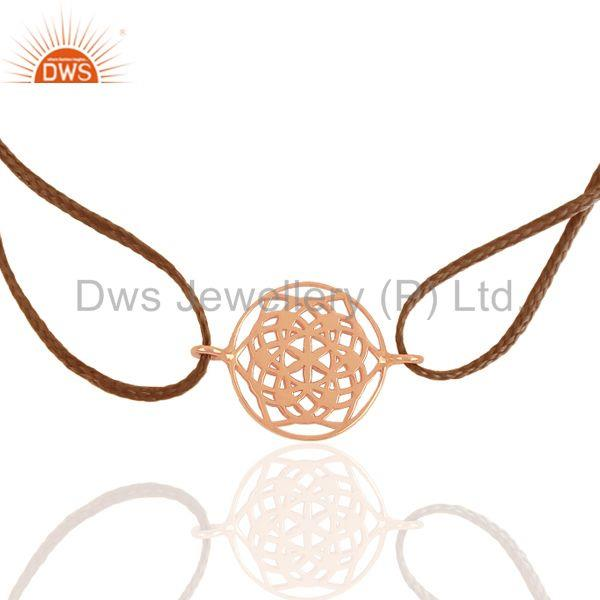 Chakra Charm Rose Gold Plated 925 Silver Bracelet Wholesale Suppliers