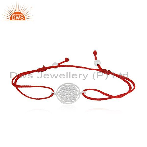 Plain Fine Sterling Silver Adjustable Macrame Bracelet Manufacturer