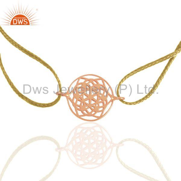 Rose Gold Plated Solid Silver Charm Unisex Bracelet Manufacturers