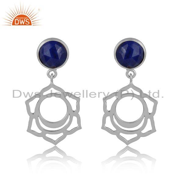 Designer sacral chakra dangle in silver 925 with lapis