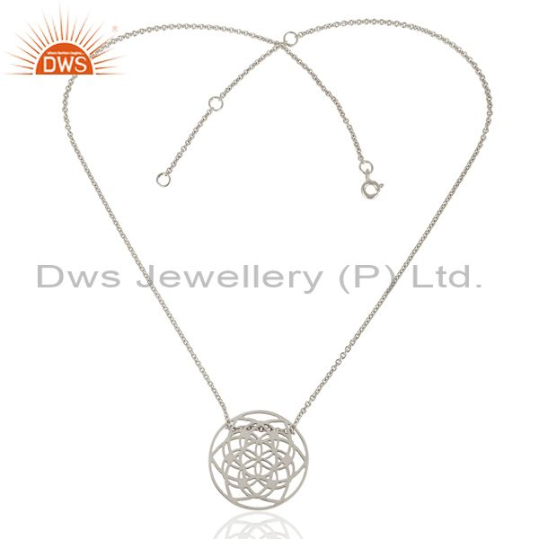 Filigree Design Sterling Fine Silver Chain Necklace Manufacturer India