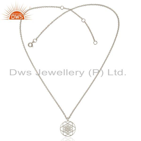 Designer 925 Sterling Silver Filigree Design Chain Pendant Manufacturer India