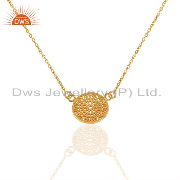 18k Gold Plated Handmade 925 Sterling Silver Charm Pendant Wholesale