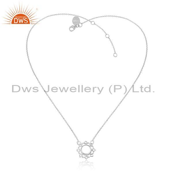Handmade fine sterling silver designer pendant and chain set