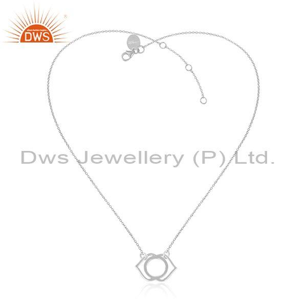 Handmade fine 925 silver statement pendant and chain set
