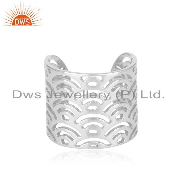 Filigree Design 925 Sterling Fine Plain Silver Rings Manufacturers