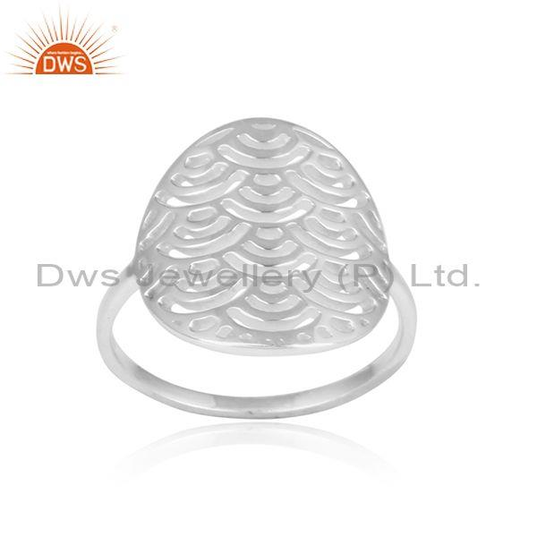 Filigree Design Handmade 925 Sterling Fine Silver Ring