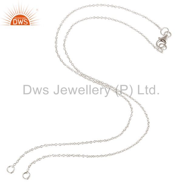 925 sterling silver link chain necklace with lobster lock