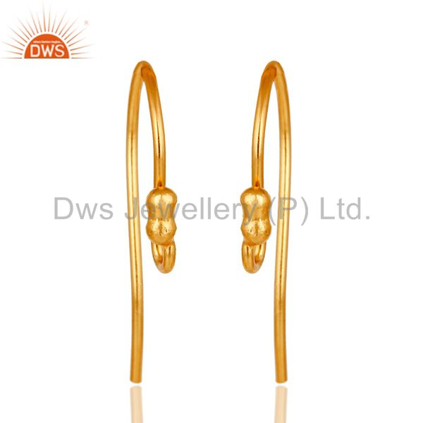 18k yellow gold plated over sterling silver hook for earrings
