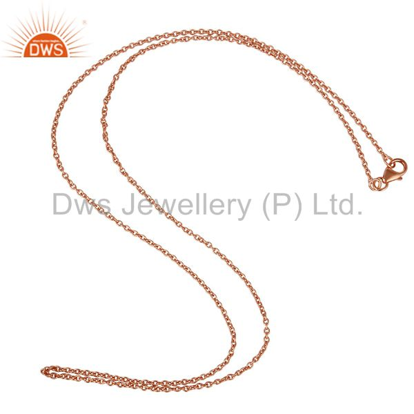 Rose gold plated link chain sterling silver findings assesories for jewelry