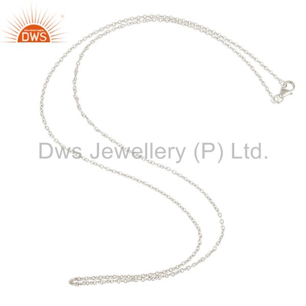 Link chain solid sterling silver findings assesories for jewelry