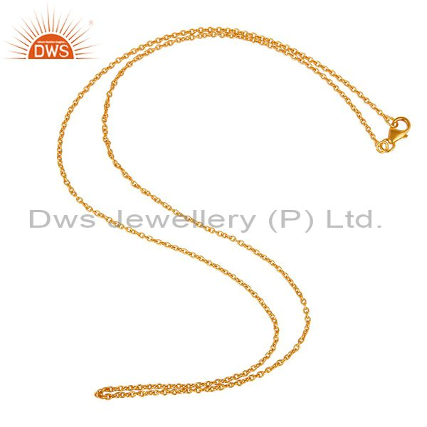 18K Gold Plated Link Chain Sterling Silver Findings Assesories for Jewelry