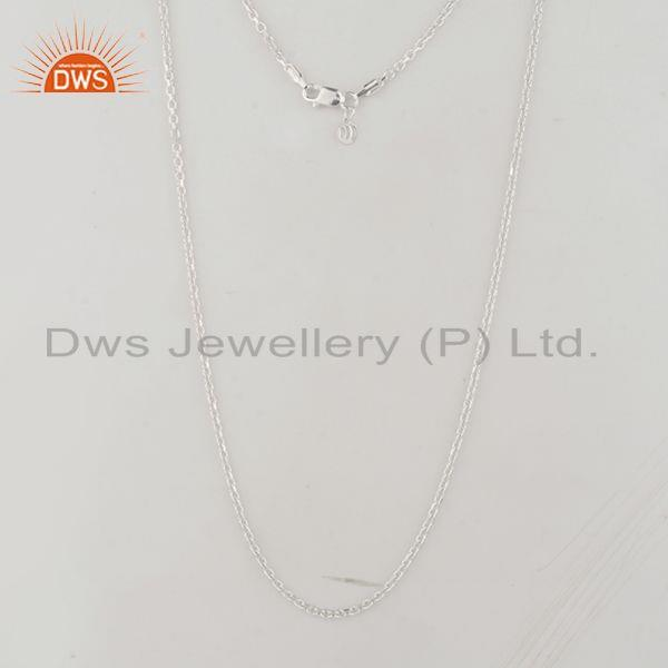 Handmade 925 sterling fine silver designer chain with charm jewelry