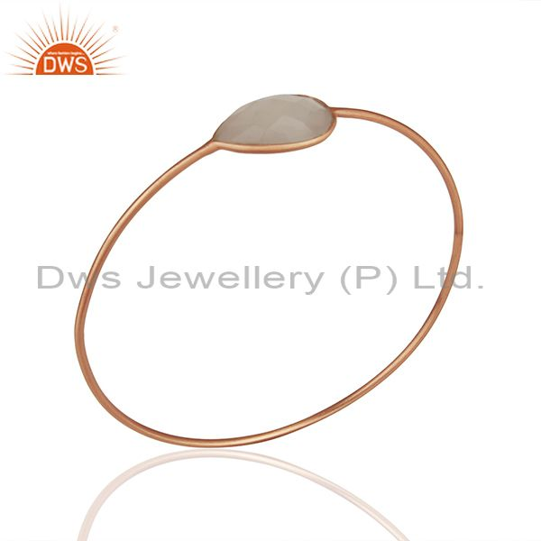 Rose gold plated 925 silver crystal bangle jewelry manufacturers