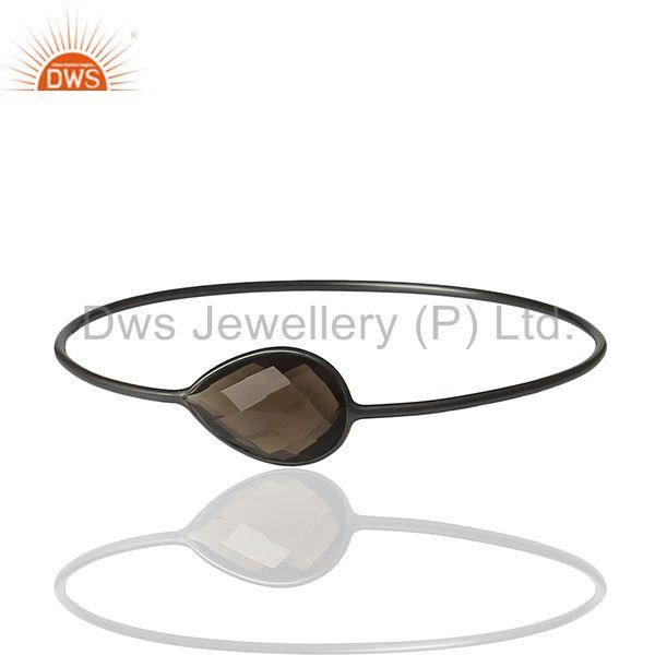 Black sterling silver smoky quartz bangle manufacturer of bracelet