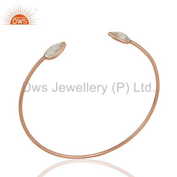 Rose Gold Plated 925 Sterling Silver Cuff Bracelet Manufacturer