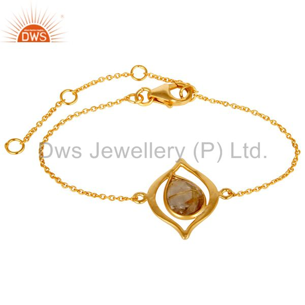 14k Gold Plated Jewelry Golden Rotile Beautifu Chain Braceletl