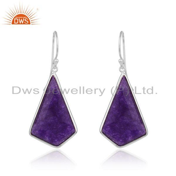 Fine Sterling Silver Amethyst Aventurine Gemstone Earrings Suppliers
