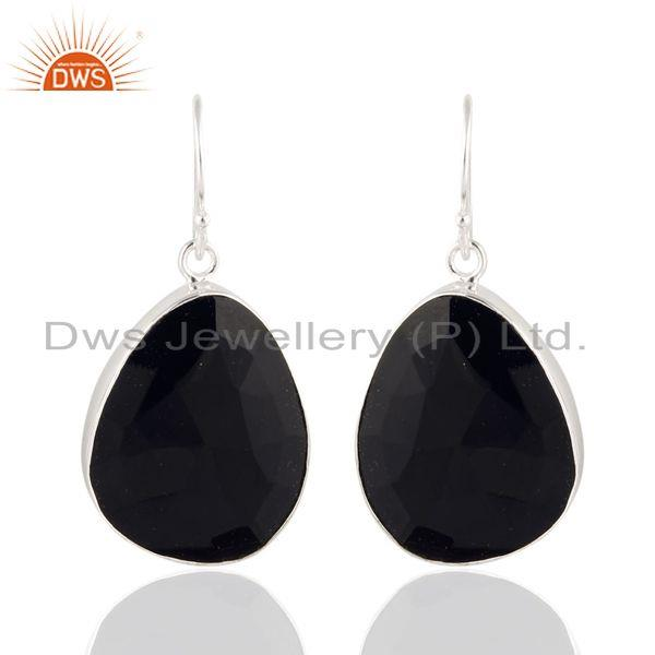 Black Onyx 925 Sterling SIlver Dangle Hook Earrings Fashion Jewelry for Women