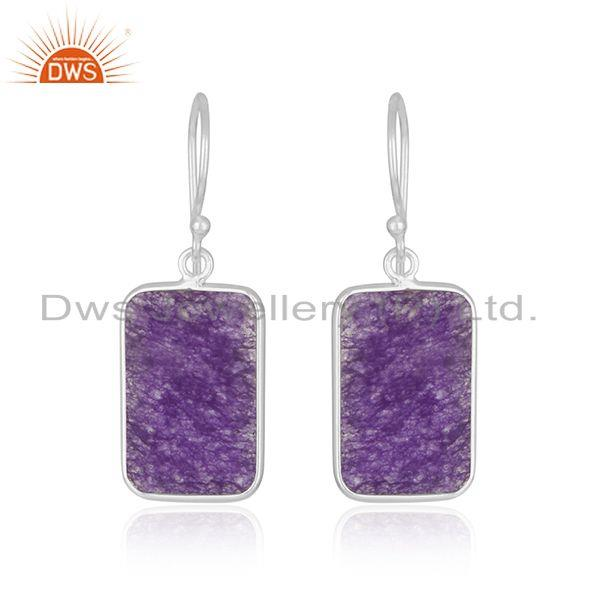 Aventurine Amethyst Gemstone Fine Sterling Silver Earrings Wholesaler