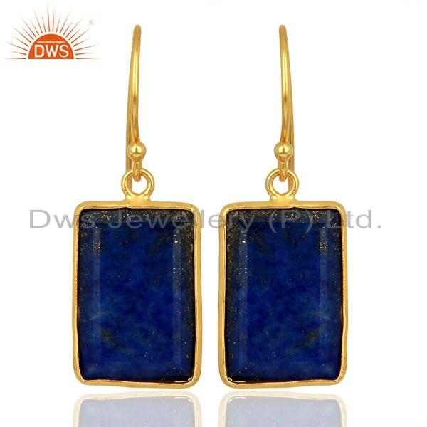 Lapis Handcrafted Artisan Gold Plated Drop Wholesale Jewelry