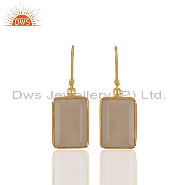 Rose Chalcedony Gemstone 925 silver Stud Earrings Manufacturers