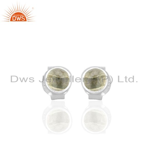 Lemon Topaz Gemstone Stud Earrings Silver Jewelry Manufacturers