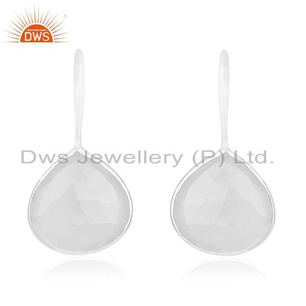 Rainbow Moonstone 925 Sterling Silver Drop Earring Manufacturer of Jewelry