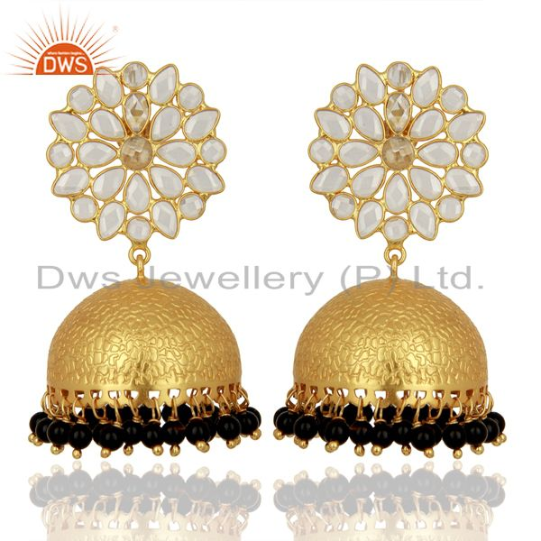 Wholesale Gold Plated Indian Traditional Earrings Gemstone Jewelry