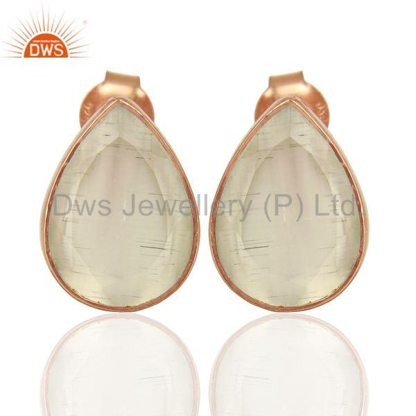 White Moonstone Silver Gemstone Earrings Jewelry Manufacturer Supplier