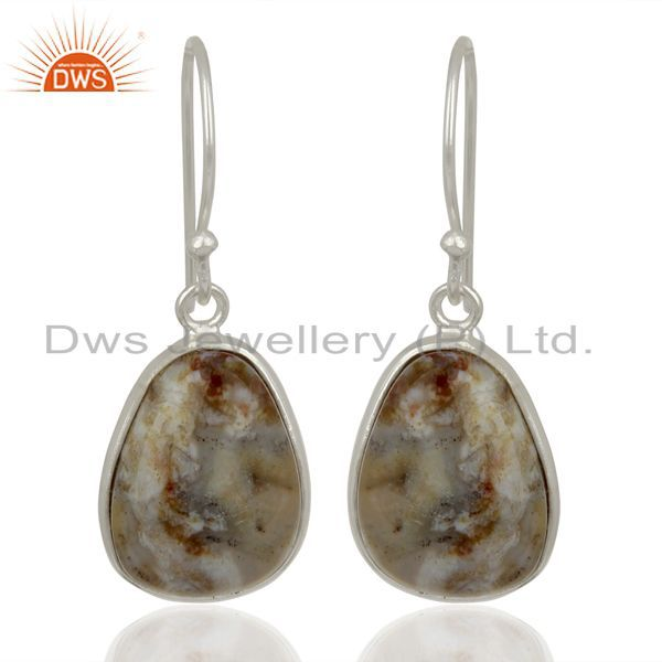 Handmade Sterling Silver Ocean Jasper Gemstone Designer Earrings
