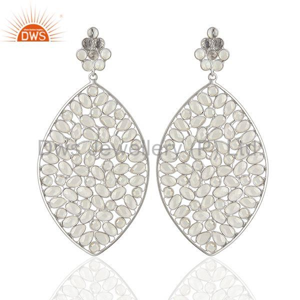 Wholesale 925 Sterling Silver CZ Gemstone Indian Earring Jewelry