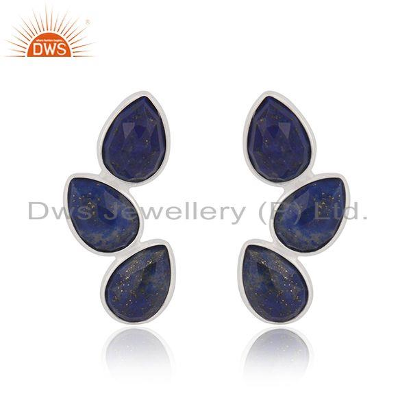 Lapis Lazuli Gemstone Fine Sterling Silver Earring Manufacturer of Jewelry