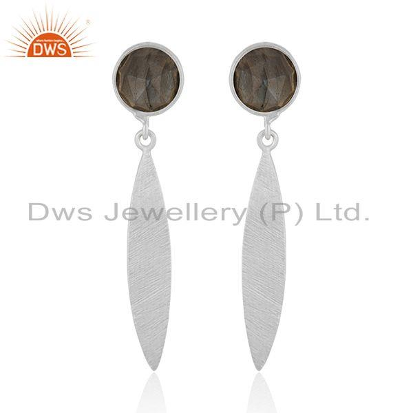 Girls Fine Silver Labradorite Gemstone Designer Earrings Jewelry Manufacturer