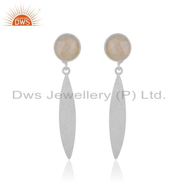 Rainbow Moonstone Handmade 925 Sterling Silver Earrings Wholesaler