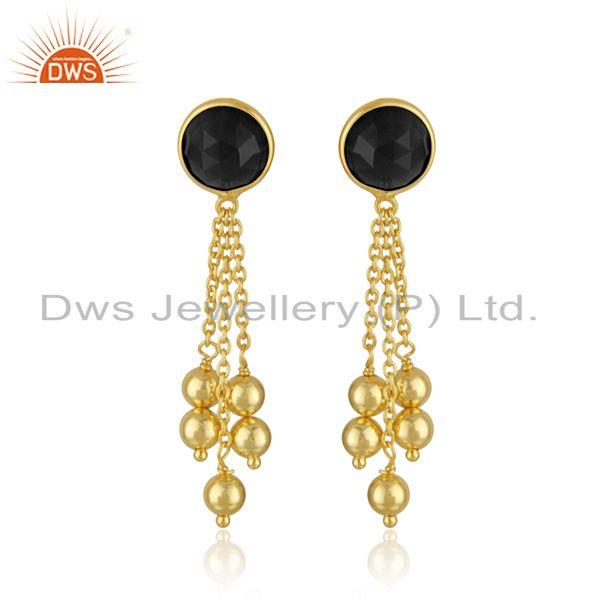 Gold Plated Designer 925 Silver Chain Earrings Jewelry Supplier