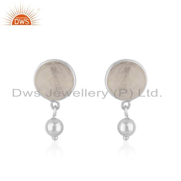 Wholesale Fine Silver Designer Rainbow Moonstone Earring Jewelry Supplier