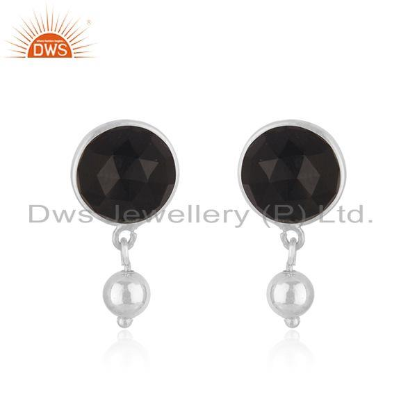 Black Onyx Gemstone Designer Sterling SIlver Earrings Jewelry